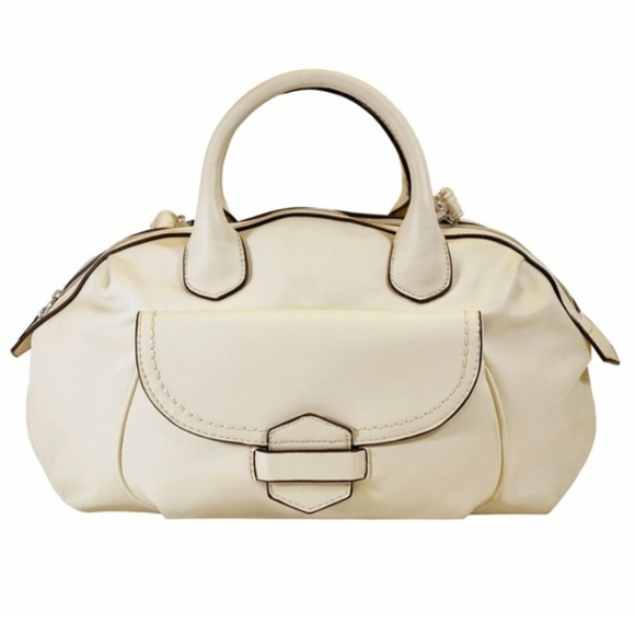 Beautiful Classic White Medium Satchel MoDA Bag 1e389245f9723